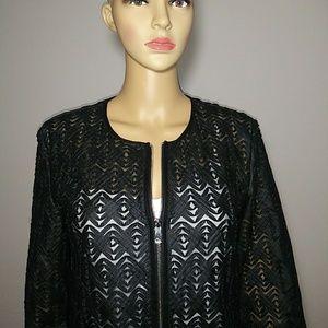 Black Bagatelle Open Front Jacket Size M